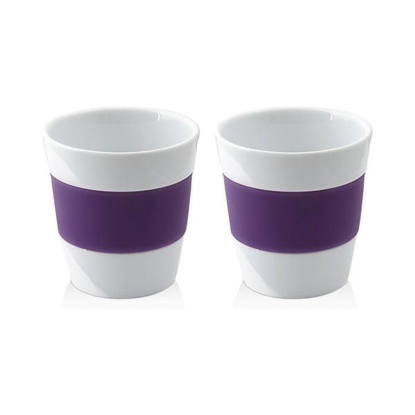 Sada dvoch hrnčekov 250 ml, fialová