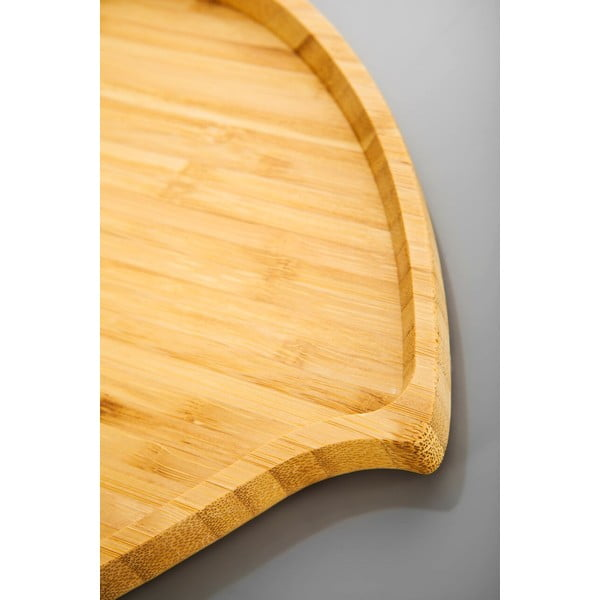 Bambusový servírovací podnos Bambum Amor, 23cm