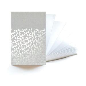 Strieborný zápisník Mon Petit Art Accordeon