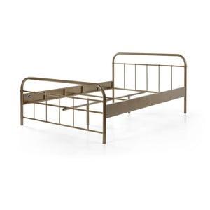 Hnedá kovová detská posteľ Vipack Boston Baby, 140×200 cm