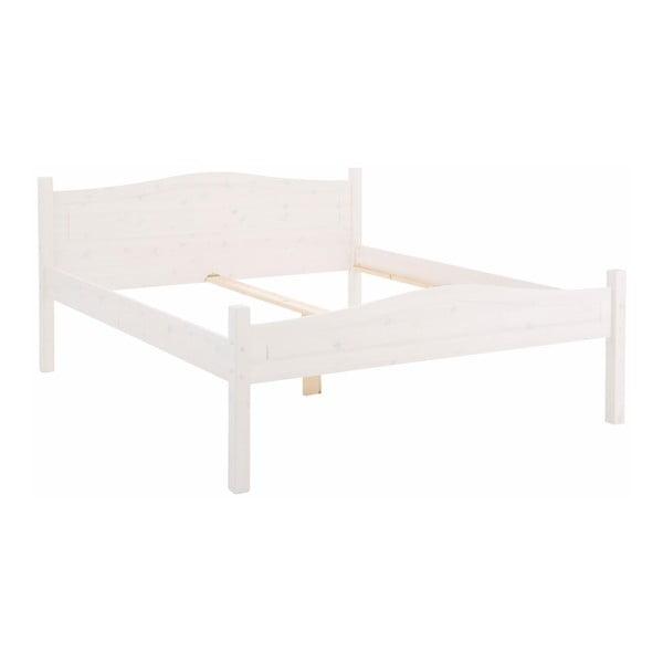 Biela posteľ z masívneho borovicového dreva Støraa Barney, 180 × 200 cm