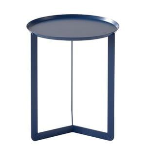 Tmavomodrý príručný stolík MEME Design Round, Ø 40 cm