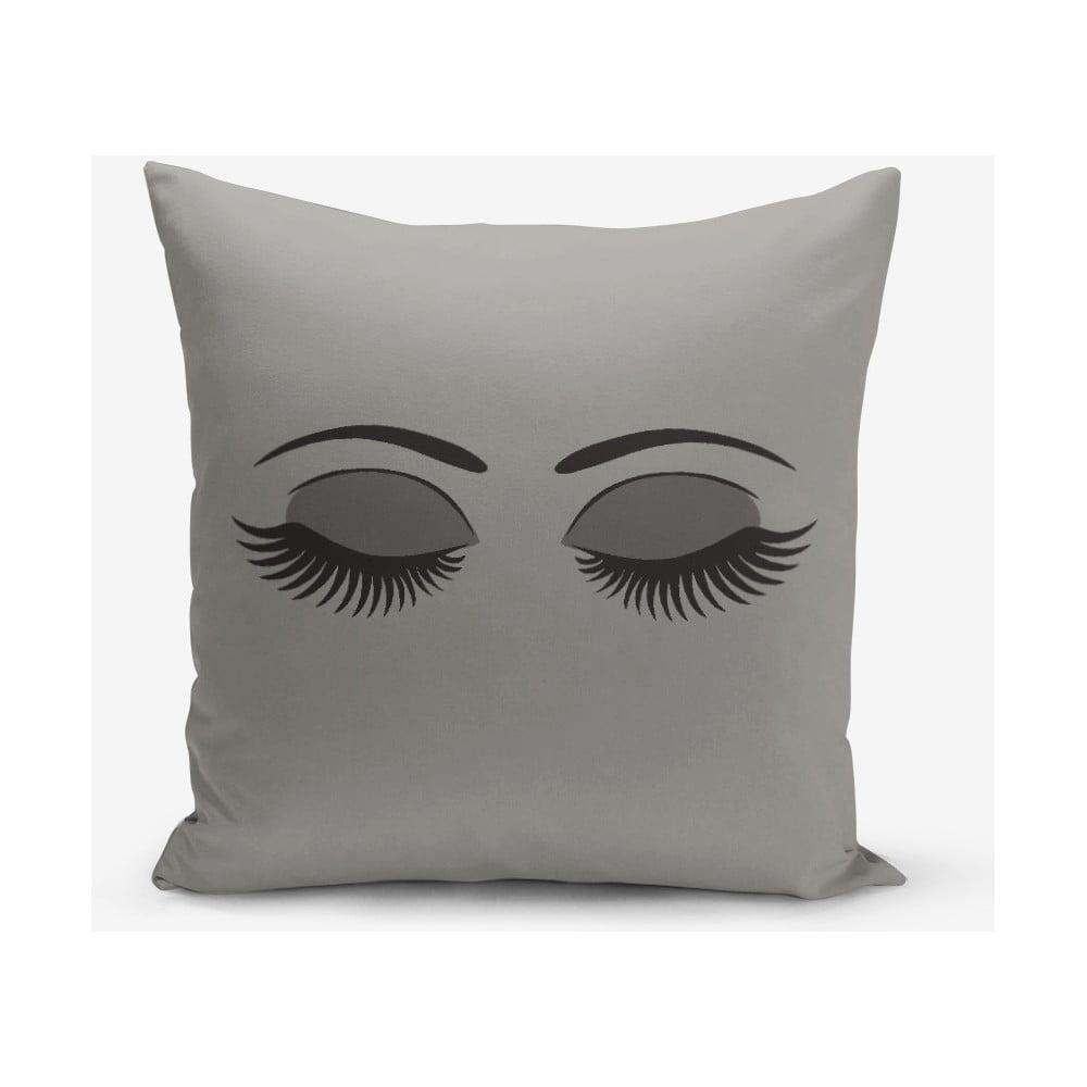 Sivá obliečka na vankúš Minimalist Cushion Covers Lash, 45 × 45 cm