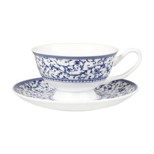 Hrnček s tanierikom Churchill China Blue Story Grace, 200 ml