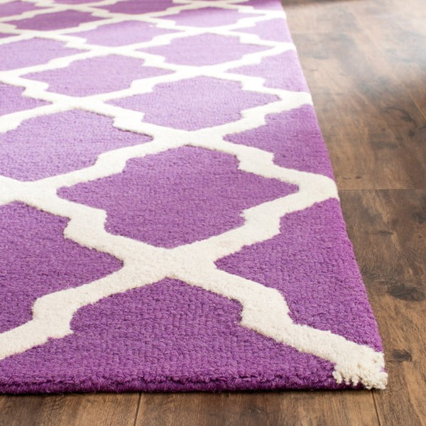 Vlnený koberec Ava Purple, 182x274 cm