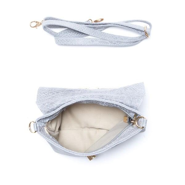 Kožená kabelka Delfina, sivá