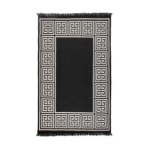 Obojstranný béžovo-čierny koberec Homedebleu Athena, 120×180cm