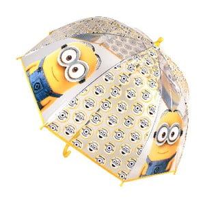 Detský transparentný dáždnik Minions Noms
