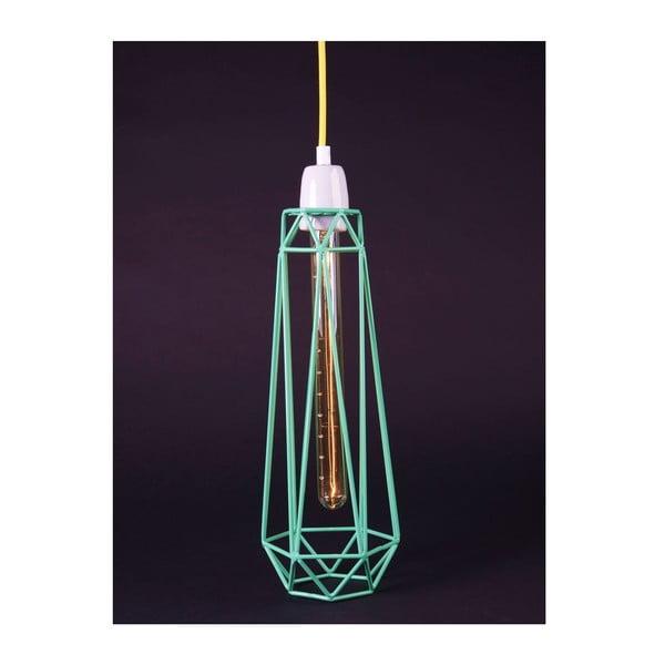 Svetlo so zeleným tienidlom a žltým káblom Filament Style Diamond #2