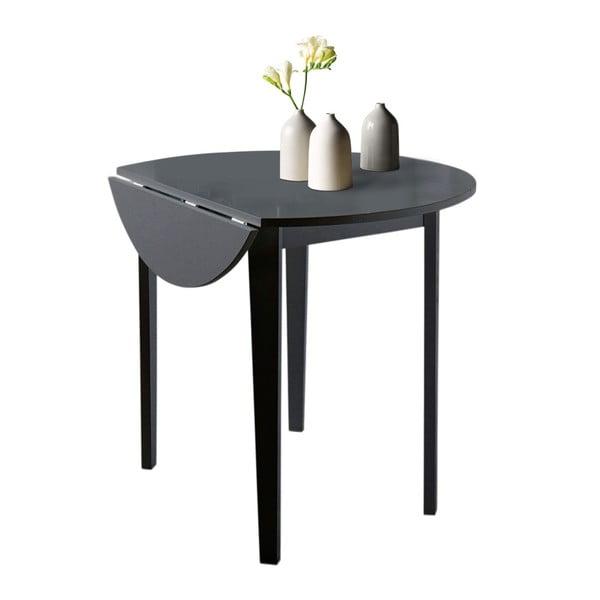 Čierny skladací jedálenský stôl Støraa Trento Quer, ⌀ 92cm
