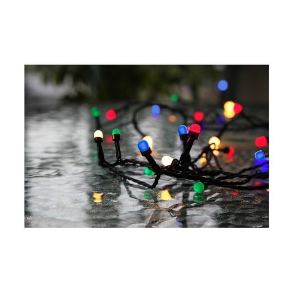 Vonkajšia svetelná party LED reťaz s farebnými diódami Best Season Cherry, 40 svetielok