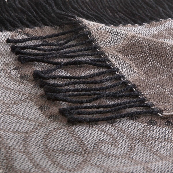 Vlnená prikrývka Rubino 130x180 cm, hnedá