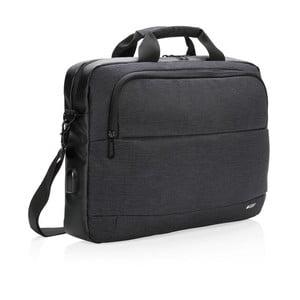 Čierna taška na notebook 15'' Swiss Peak, 8 l