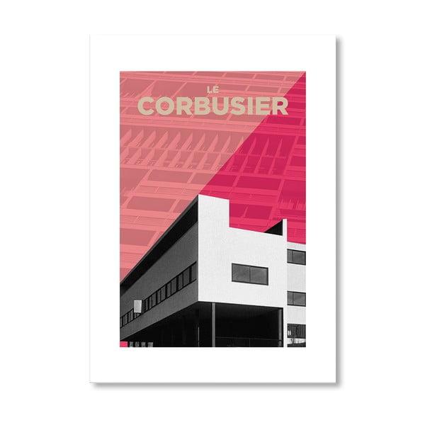 Autorský plagát Corbusier Pink
