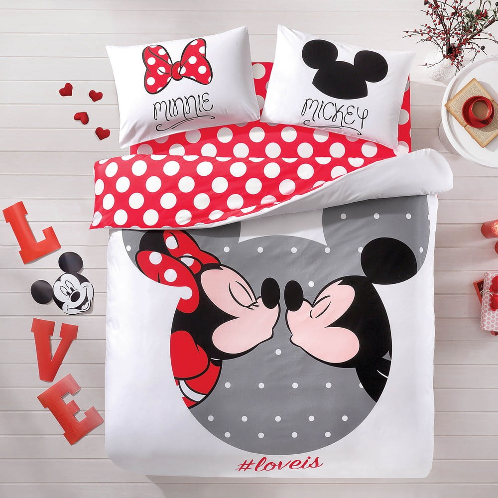 Bavlnen 233 Obliečky S Plachtou Na Dvojl 244 žko Tac Mickey