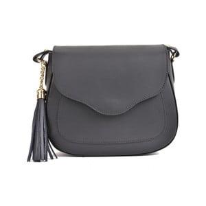 Čierna kožená kabelka Mangotti Bags Karmo