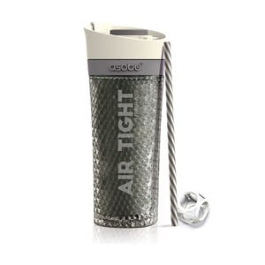 Sivá termofľaša Asobu Pump & Chill, 500 ml