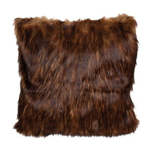 Tmavohnedá obliečka na vankúš Clayre & Eef Fur, 50 x 50 cm