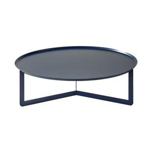 Tmavomodrý konferenčný stolík MEME Design Round, Ø 80 cm