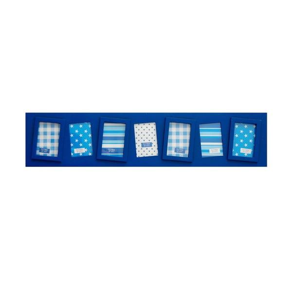Sada siedmich rámčekov Photo, modrá