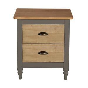 Sivý nočný stolík z masívneho borovicového dreva SOB Irelia