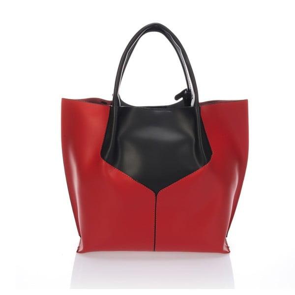 Kožená kabelka Italia 86,červená