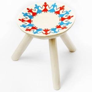 Ručne maľovaná stolička Bod, 28 cm