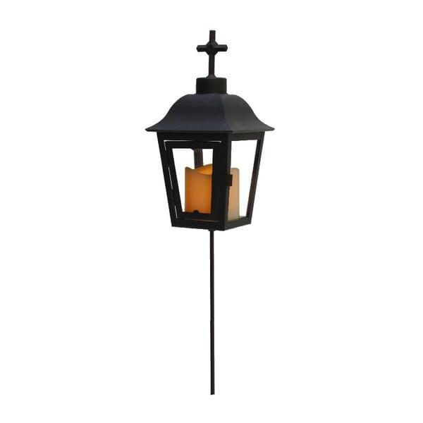 Čierny LED záhradný lampáš svymeniteľným vrchom Best Season Ball