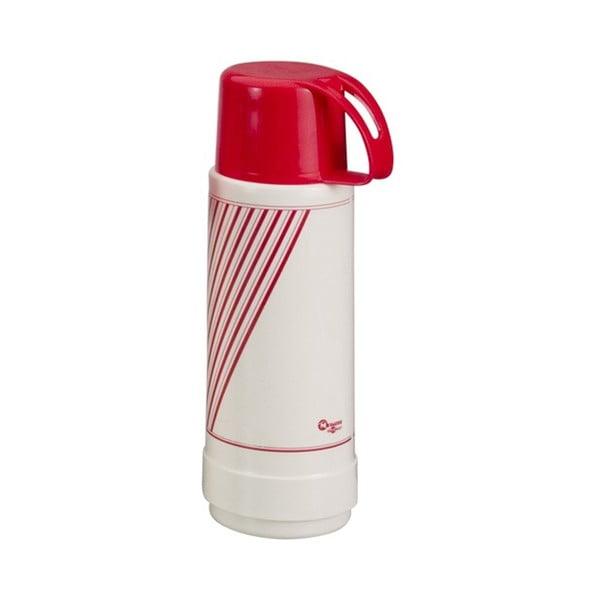 Červeno-biela termo fľaša Metaltex Vacuum, 1 l