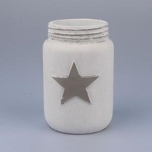 Biela váza s hviezdou Dakls