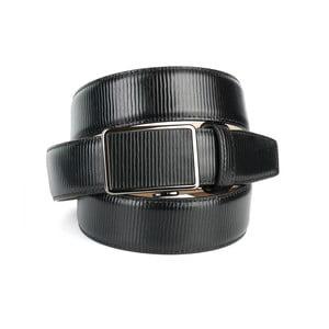 Pánsky kožený opasok 37G10S Black, 90 cm