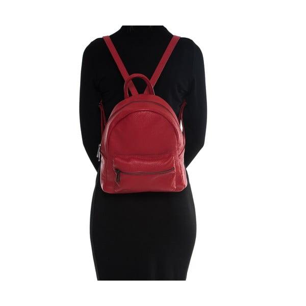 Kožený batoh Mangotti 1166, červený