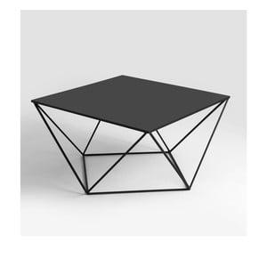 Čierny konferenčný stolík Custom Form Daryl, 80 × 80 cm