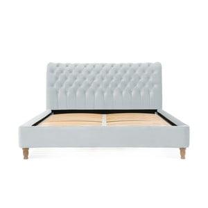 Sivomodrá posteľ z bukového dreva Vivonita Allon, 180 × 200 cm