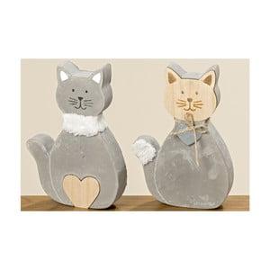 Sada 2 dekoratívnych betónových mačičiek Boltze Kitty