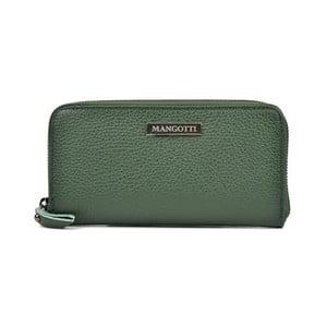 Zelená kožená listová kabelka Mangotti Landallo