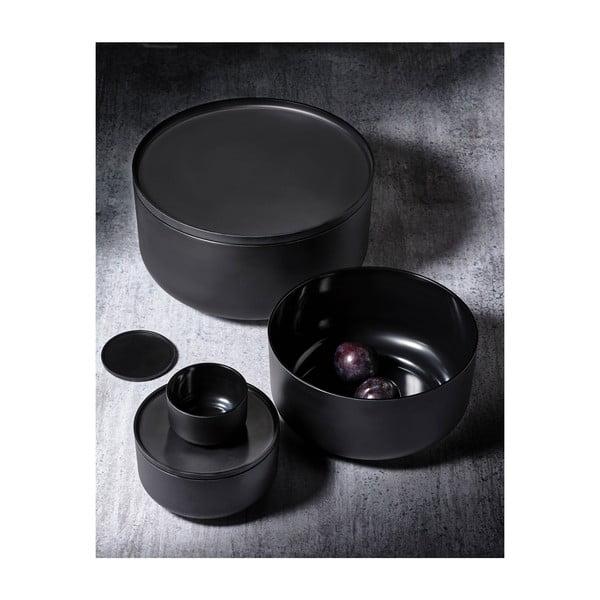 Čierna servírovacia miska s vrchnákom Zone Peili, 250 ml