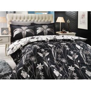Obliečky s plachtou Clarinda Black, 200x220 cm