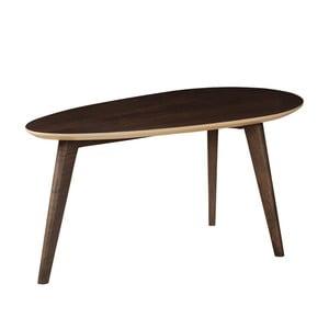 Odkladací stolík zmasívneho mangového dreva Woodjam Play Dark Egg