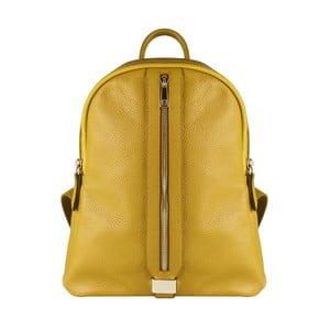 Žltý kožený batoh Maison Bag Lisa