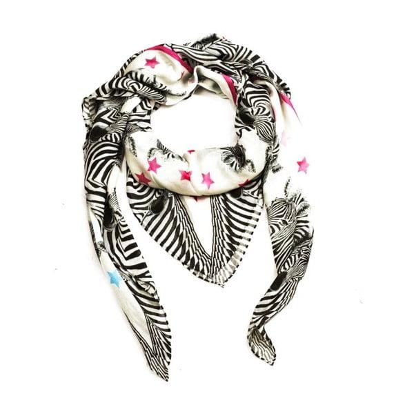 Šatka Zebra, 130x130 cm