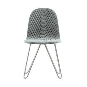 Sivá stolička s kovovými nohami IKER Mannequin X Wave