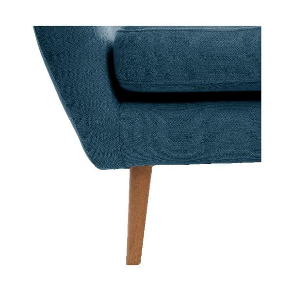 Námornícka modrá dvojmiestna pohovka Vivonita Kelly, prírodné nohy