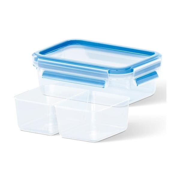 Krabička na potraviny Clip&Close + 2 priehradky, 1 l