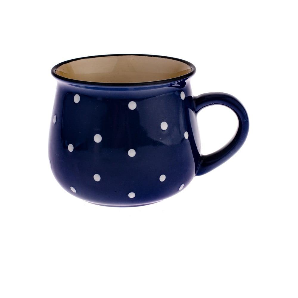 Modrý keramický hrnček s bodkami Dakls Premio, 770 ml