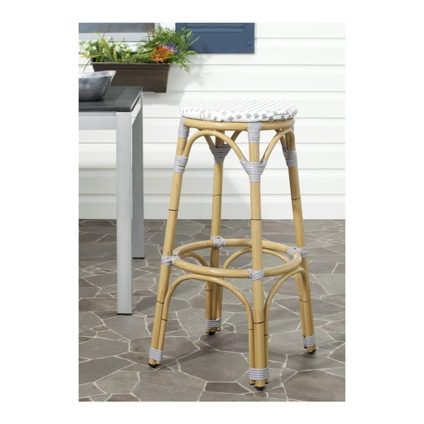 Barová stolička Kiara Grey/White