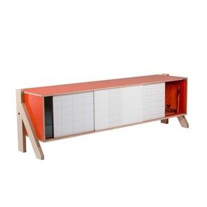 Oranžová komoda rform Frame, dĺžka 165 cm