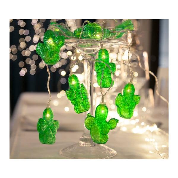 Svetelná LED reťaz Best Season Cactus, 10 svetielok