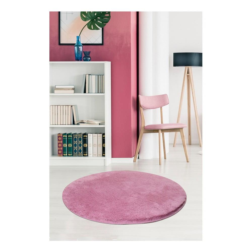 Svetlofialový koberec Milano, ⌀ 90 cm