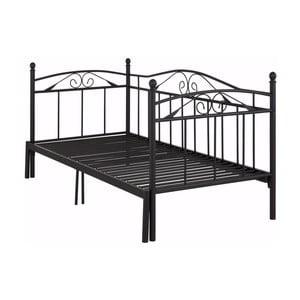 Čierna rozkladacia posteľ Støraa Bibi, 90 x 200 cm